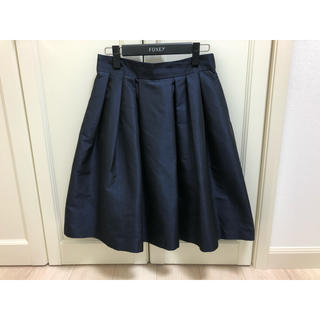 エムプルミエ(M-premier)のエムプルミエ ブラック M-premier スカート 38 紺 ふんわりスカート(ひざ丈スカート)