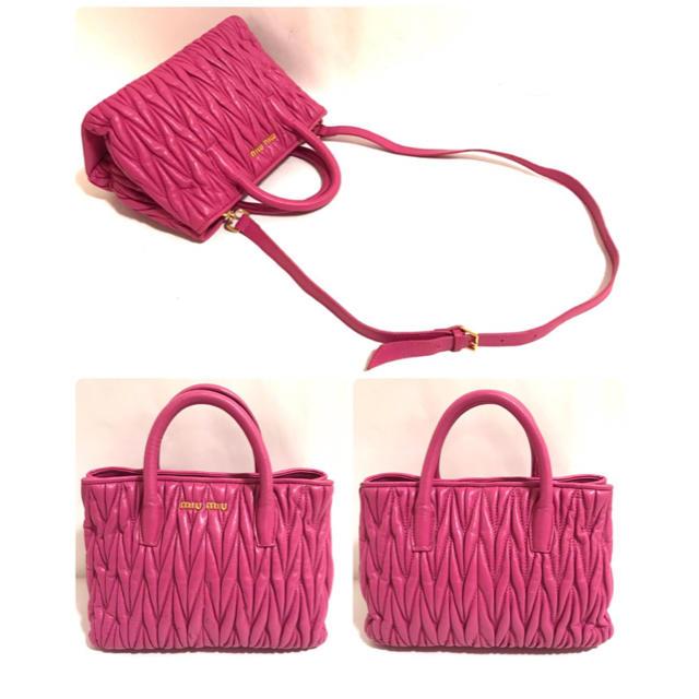 miumiu(ミュウミュウ)の【正規品】ミュウミュウ✨マトラッセ 2wayバッグ レディースのバッグ(ショルダーバッグ)の商品写真