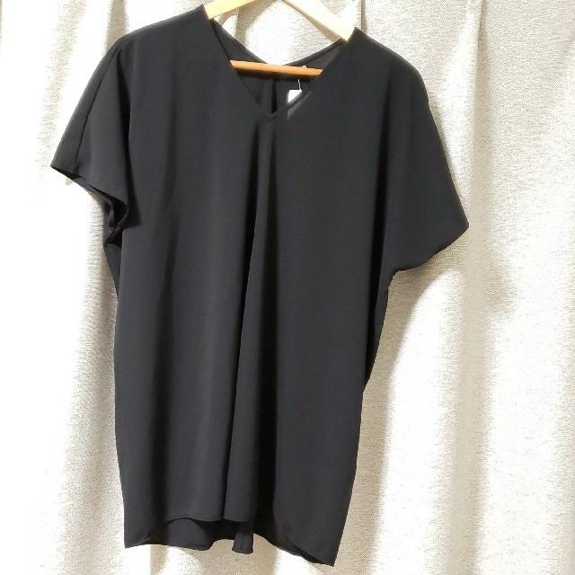 UNIQLO(ユニクロ)のユニクロ クレープジャージーチュニック半袖 レディースのトップス(シャツ/ブラウス(半袖/袖なし))の商品写真