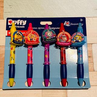 ダッフィー - 🌟セール品🌟香港ディズニー ダッフィーフレンズ ボールペン5本セット