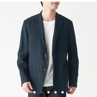 ムジルシリョウヒン(MUJI (無印良品))の専用出品 フレンチリネンジャケット 紳士L・ダークネイビー(テーラードジャケット)