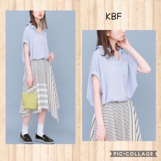 ケービーエフ(KBF)のスキッパーシャツチュニック KBF urban research(シャツ/ブラウス(半袖/袖なし))