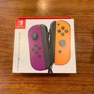 Nintendo Switch - 【新品】switch Joy-Con (L)ネオンパープル/(R)ネオンオレンジ