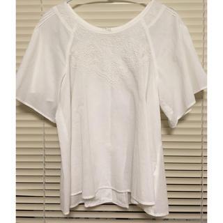 d'un 'a dix ふんわり袖 刺繍ブラウス(シャツ/ブラウス(半袖/袖なし))