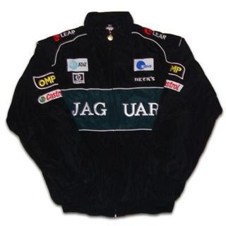 【送料無料】JAGUAR ジャガー ジャケット・ブルゾン 黒・緑 Lサイズ(ブルゾン)