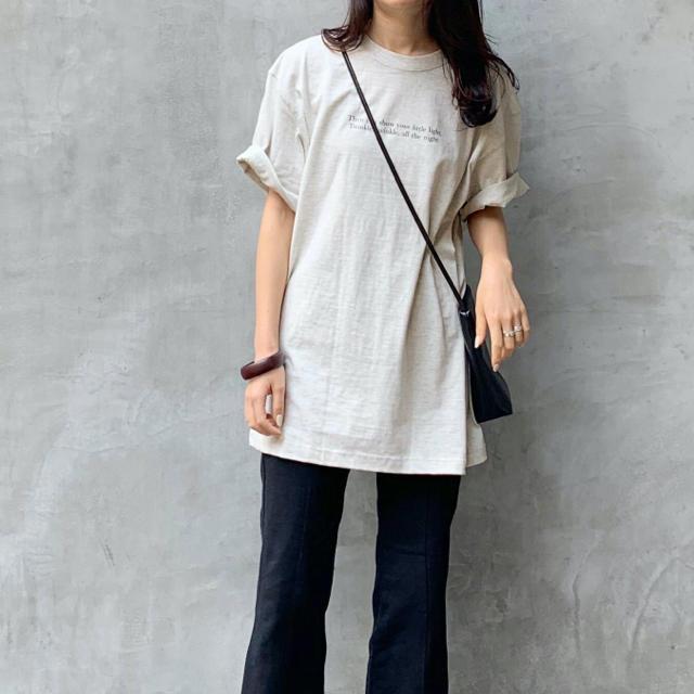 BEAUTY&YOUTH UNITED ARROWS(ビューティアンドユースユナイテッドアローズ)のオーバーサイズフォトプリントTシャツ グレー レディースのトップス(Tシャツ(半袖/袖なし))の商品写真