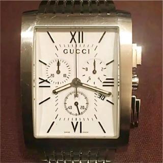 グッチ(Gucci)のGUCCI クロノグラフ 8600M 防水 白(腕時計(デジタル))