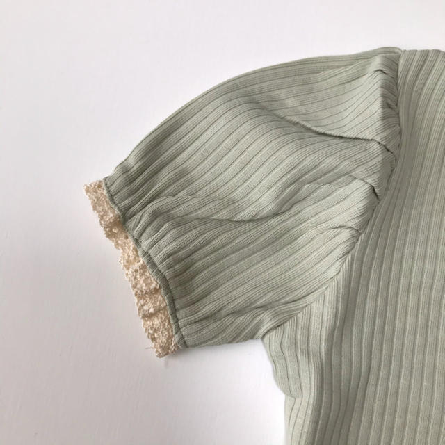 パフスリーブトップス⭐︎リブトップス⭐︎ 海外こども服 韓国子供服 キッズ/ベビー/マタニティのベビー服(~85cm)(その他)の商品写真