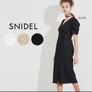 snidel - snidel リネンミディワンピース 新品