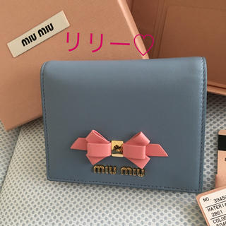 miumiu - ミュウミュウ     リボン二つ折り財布♡