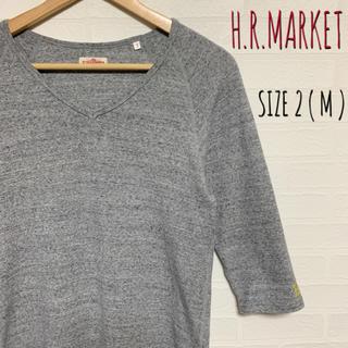 ハリウッドランチマーケット(HOLLYWOOD RANCH MARKET)のハリウッドランチマーケット ストレッチフライス 七部袖VネックT サイズ2(Tシャツ/カットソー(七分/長袖))