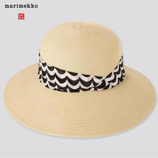 ユニクロ(UNIQLO)の新作 マリメッコ×ユニクロ UV ペーパー ハット 帽子 麦わら帽  女優帽  (麦わら帽子/ストローハット)