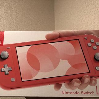 ニンテンドースイッチ(Nintendo Switch)の新品未使用 Switch light コーラル(携帯用ゲーム機本体)