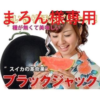 まろん様専用 ②最高級・最高品質の種無しスイカ【ブラックジャック】6~8キロ(フルーツ)