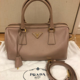 PRADA - PRADA プラダ サフィアーノ ボストン バッグ ピンク