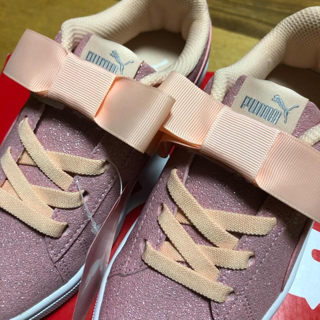 PUMA(プーマ)の新品 プーマ 20cm スニーカー 靴 シューズ キッズ ジュニア リボン キッズ/ベビー/マタニティのキッズ靴/シューズ(15cm~)(スニーカー)の商品写真