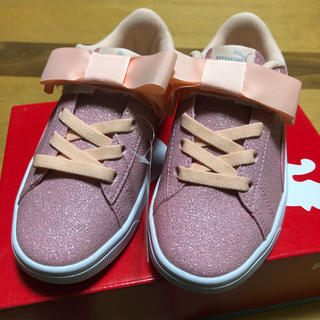 PUMA - 新品 プーマ 20cm スニーカー 靴 シューズ キッズ ジュニア リボン