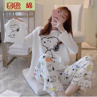 スヌーピー柄★大人気 新品 パジャマ♪レディース  部屋着 セットアップ(ルームウェア)