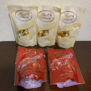リンツ(Lindt)のリンツ⭐️リンドール⭐️チョコレート⭐️ホワイト⭐️ミルク(菓子/デザート)