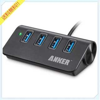 Anker USB 3.0 高速4ポートハブ (ブラック)