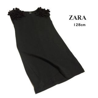 ZARA KIDS - ■ZARA/ザラ■ キッズ128cm 肩お花モチーフワンピース