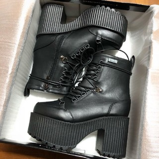 YOSUKE - 新品 Sサイズ yosuke 厚底ショートブーツ 黒