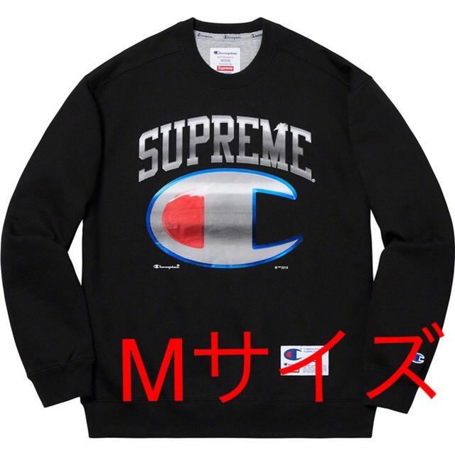 Supreme(シュプリーム)のSupreme Champion Chrome Crewneck 黒 Mサイズ メンズのトップス(スウェット)の商品写真
