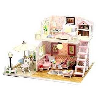 (ホンガクラフト) ピンクのロフト DIYミニチュアドールハウス(模型/プラモデル)