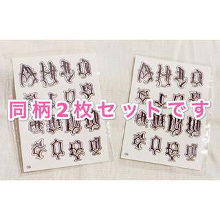 ✧︎2枚セット✧︎貼り方剥がし方日本語説明付き タトゥーシール特殊⑳文字2(その他)