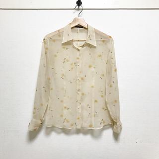 TOGA - MASAIQUE🍋定価3万 小花柄オーガンジーシャツ