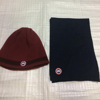 CANADA GOOSE - カナダグースニット帽とマフラーセットです最終価格!今日売れなければ削除します