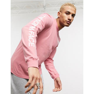THE NORTH FACE - 【Mサイズ】新品タグ付き ノースフェイス ロゴ ロンT ピンク