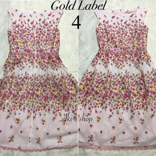 TOCCA - 美品 TOCCA GOLD LABEL SANKAYO ドレス 4 花柄 刺繍