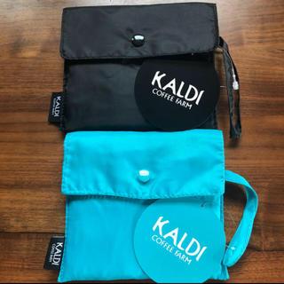 カルディ(KALDI)の【人気】カルディ★エコバッグの黒&青★(エコバッグ)