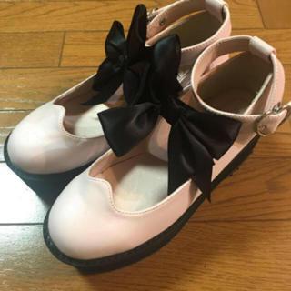 アンクルージュ(Ank Rouge)のAnk Rouge 量産 厚底 靴 ピンク(ローファー/革靴)