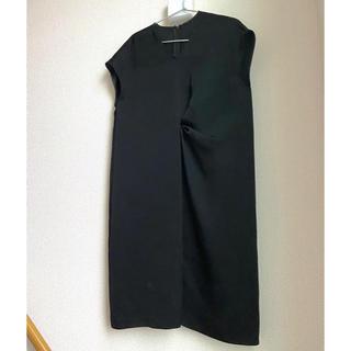Calvin Klein - 新品 未使用 カルバンクライン フロントギャザー ワンピース 黒 ブラック