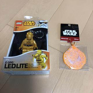 レゴ(Lego)の新品 スターウォーズ レゴ C-3PO キーライト BB-8 反射材キーホルダー(SF/ファンタジー/ホラー)