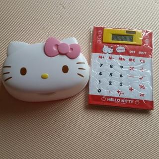 サンリオ(サンリオ)のHello Kitty 計算機&ウエットティシュケースのみ(中古)セット(ティッシュボックス)