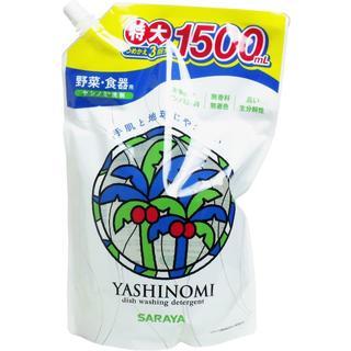 サラヤ(SARAYA)の(送料無料)ヤシノミ洗剤 野菜・食器用 詰替用 特大 1500mL(日用品/生活雑貨)