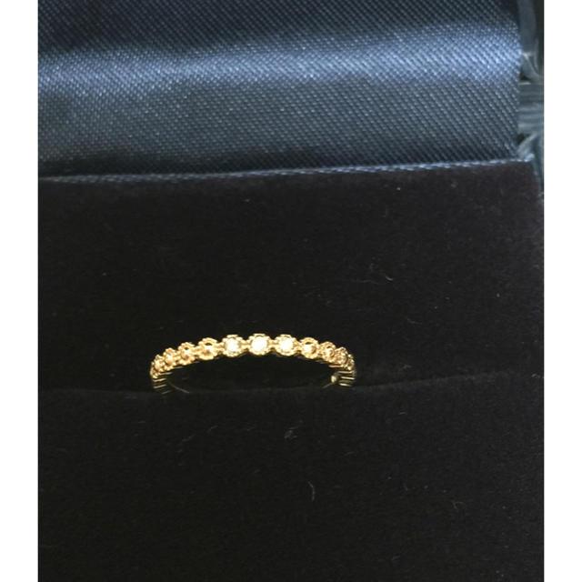 4℃(ヨンドシー)の4℃ カナル ☆K10ダイヤピンキーリング レディースのアクセサリー(リング(指輪))の商品写真