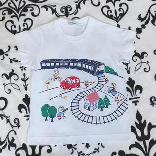 familiar - ファミリア100サイズおはなしTシャツ電車モチーフ
