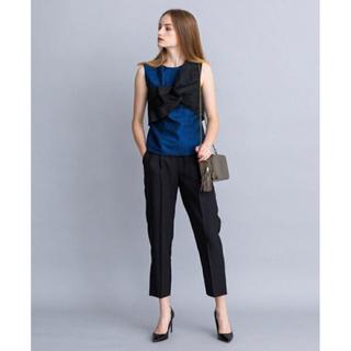 ランバンオンブルー(LANVIN en Bleu)の新品 ランバンオンブルー  ラメツイルリボン(カットソー(半袖/袖なし))