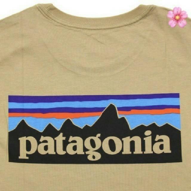 patagonia(パタゴニア)の送料無料 Mサイズ パタゴニア P-6ロゴ Tシャツ タンカラー メンズのトップス(Tシャツ/カットソー(半袖/袖なし))の商品写真
