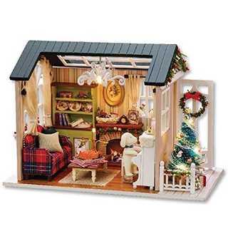 木製おもちゃハウスミニDIYキットセット・座敷模型、家具・キット(割合:1:24(模型/プラモデル)