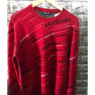 バレンシアガ(Balenciaga)のBALENCIAGA バレンシアガ ニット クルーネック セーター ロゴ (ニット/セーター)
