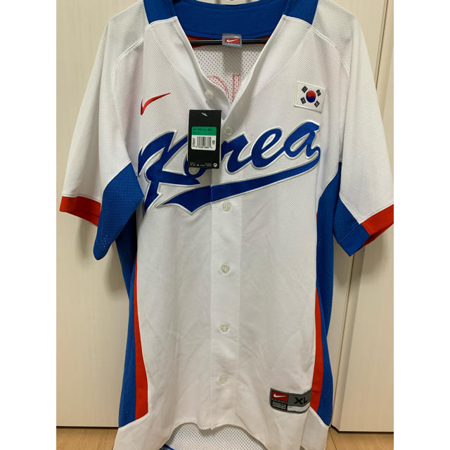 NIKE(ナイキ)の2010アジア大会韓国代表 野球ユニフォーム 新品 NIKE XL スポーツ/アウトドアの野球(ウェア)の商品写真