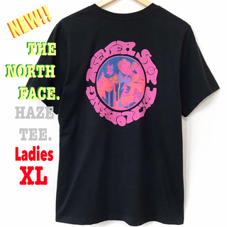THE NORTH FACE - 残① 最新 ♪ ノースフェイス HAZE Tシャツ 黒 サイケデリック XL相当