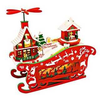 [リトルスワロー] DIY ドールハウス クリスマス 飾り 置物 オーナメント (オルゴールメリー/モービル)