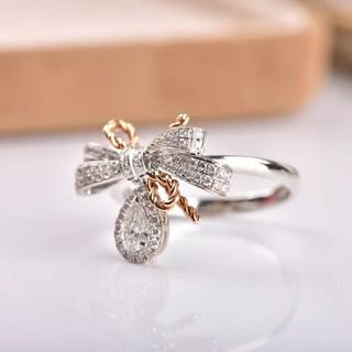 リボンの可愛い♡ダイヤモンド リング