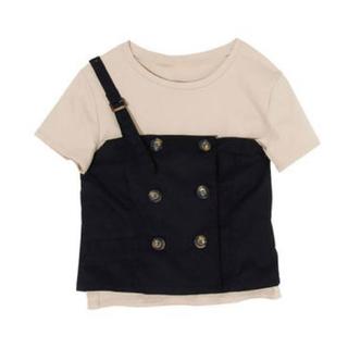 eimy istoire - ビスチェ Tシャツ セット ベージュ 黒